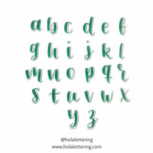 letras con sombra abecedario minúsculas